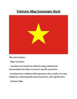 Vietnam Map Scavenger Hunt