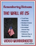 Vietnam Memorial Video Worksheets -- Perfect for Veterans Day / Memorial Day