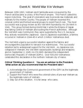 Vietnam Presidential Advisers Activity