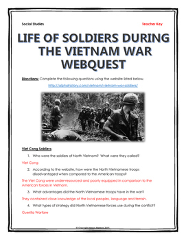 Vietnam Soldiers - Webquest (Viet Cong and American Soldiers)