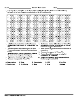 Vietnam US History Vocabulary Puzzle Collection