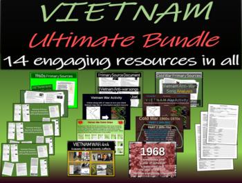 Vietnam Ultimate Bundle - 14 PowerPoints, activities, and