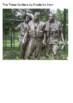 Vietnam Veterans Memorial Handout