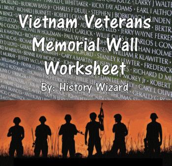 Vietnam Veterans Memorial Wall Worksheet (Great Website)