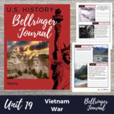 Vietnam War 20 Bellringers Warm Ups - DBQ