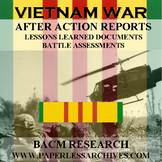 Vietnam War After Action Reports Lessons Learned Document Battle Assessments