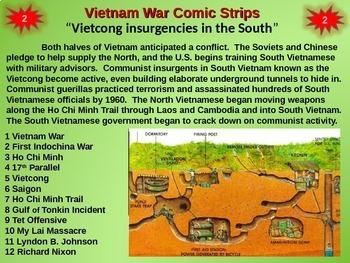 Vietnam War Comic Strip Activity - Fun, organized, engaging 25-slide PPT