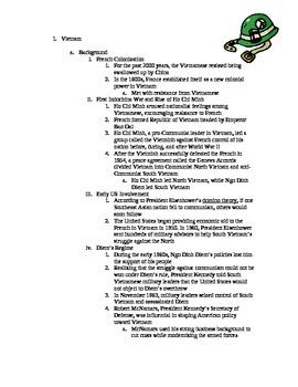 Vietnam War Completed Notes Outline