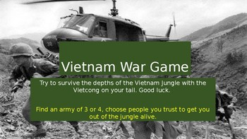 Vietnam War Conflict and Technology Scenario Game