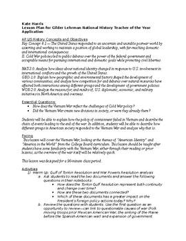 Vietnam War Document Study