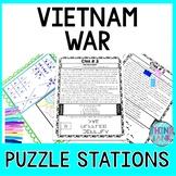 Vietnam War ESCAPE ROOM:  Print and Go Activity