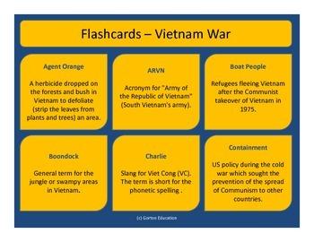 Vietnam War - Flash cards