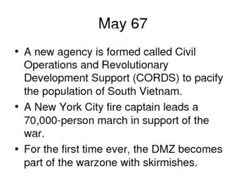 Vietnam War History Power Point - 1966-67