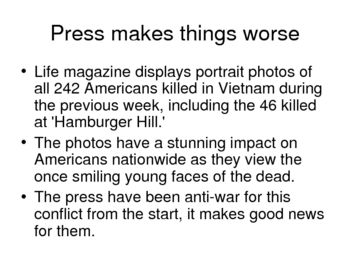Vietnam War History Power Point - 1969-70