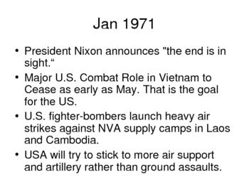 Vietnam War History Power Point - 1971-72