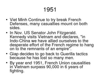 Vietnam War History Power Point - The First Indochina War