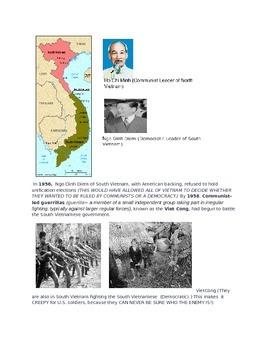 Vietnam War Illustrated Reading Packet