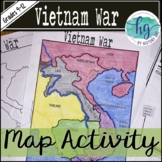 Vietnam War Map Activity (Print and Digital)