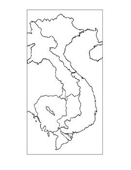 Vietnam War Map Label