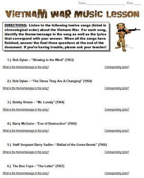 Vietnam War Music Lesson
