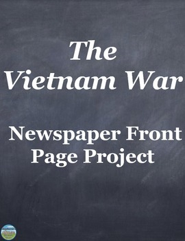 Vietnam War Newspaper Front Page Activity