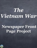 Vietnam War Newspaper Front Page Activity