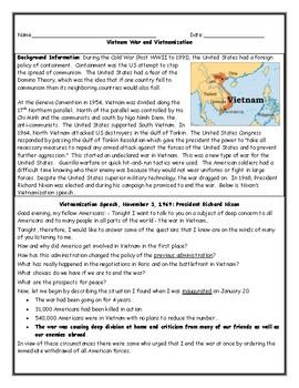 Vietnam War Worksheets  Kidz Activities