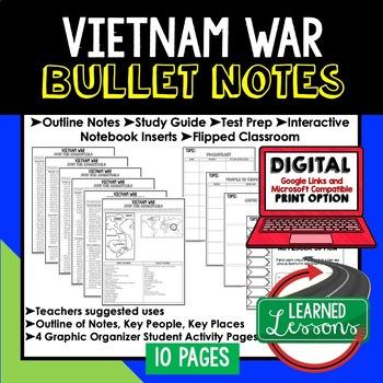 Vietnam War Outline Notes JUST THE ESSENTIALS Unit Review