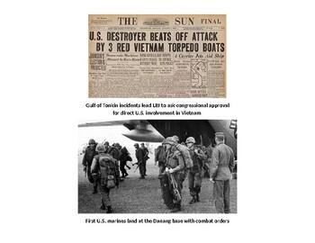 Vietnam War Pictures Activity (Day 6)