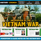 Vietnam War - PowerPoint with Cloze Notes (64 Slides/Pages on Major Events!)