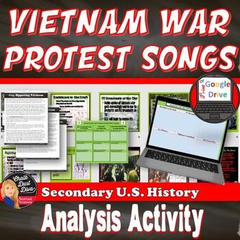Cold War: Vietnam War Protest Song Analysis Activity