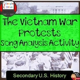 Cold War: Vietnam War Protest Song Analysis Activity - Print and Digital