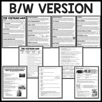 Vietnam War Reading Comprehension Worksheet, U.S. History, Communism, DBQ
