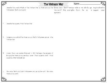 Vietnam War Reading Passages Leveled Texts