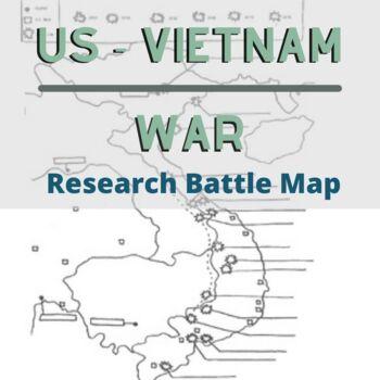 Vietnam War Research Battle Map