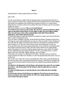 Vietnam War Supplemental Sources and Activites