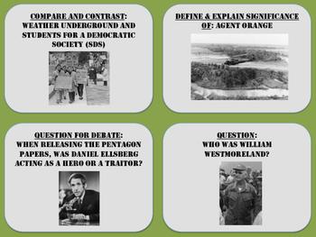 Vietnam War Task Cards
