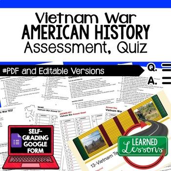 Vietnam War Test and Quiz, American History Assessment
