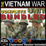 Vietnam War Unit: PPTs, Worksheets, Plans, Kahoot, Test +