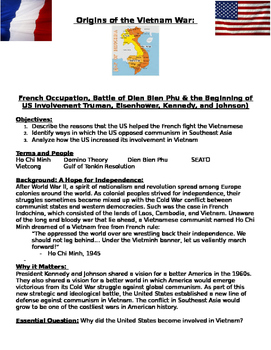 Vietnam War and Early US involvement- Truman, Eisenhower, Kennedy & Johnson