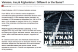 Vietnam War compared to Operation Iraqi Freedom and The War in Afghanistan