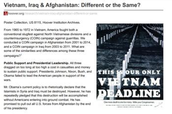 vietnam war vs iraq war
