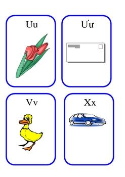 Vietnamese Alphabet Flash Cards