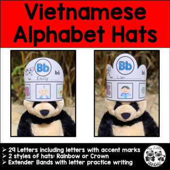 Vietnamese Alphabet Hats