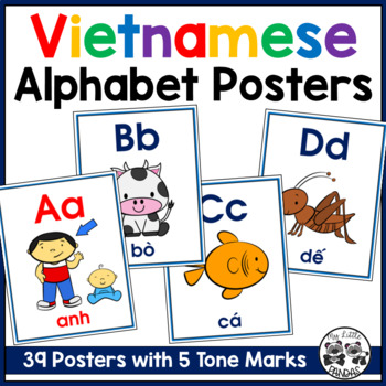 Vietnamese Alphabet Posters