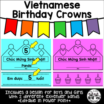 Vietnamese Birthday Crowns