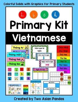 Vietnamese Primary Calendar Kit