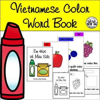 Vietnamese Color Word Book