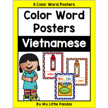 Vietnamese Crayon Color Word Posters