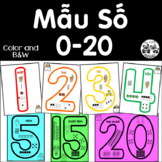 Vietnamese Number Shape Anchor Charts 0-20